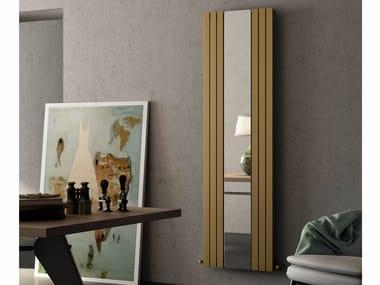Mirrored vertical carbon steel radiator ROSY MIRROR