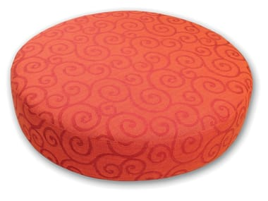 Round fabric pouf with removable lining ROTA MAJOR