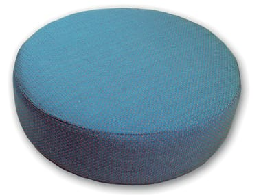 Round fabric pouf with removable lining ROTA MINOR