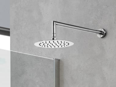 Wall-mounted round overhead shower with arm ROTONDO