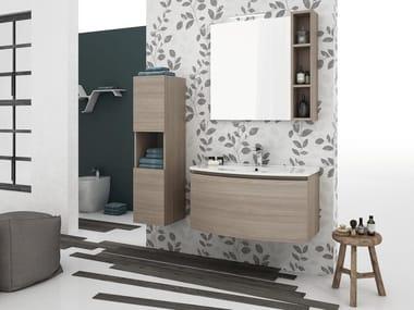 Mobile lavabo sospeso con cassetti ROUND 02