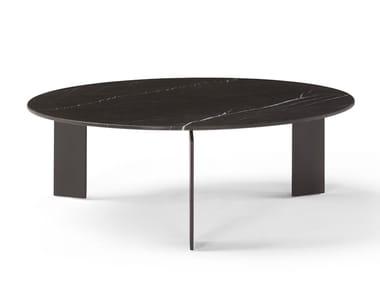 Mesa de centro de café redonda de mármore RANGE | Mesa de centro redonda