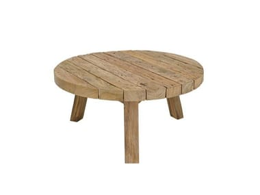 Round teak garden side table WOO SYSTEM | Round coffee table