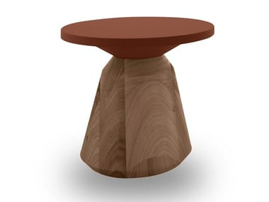 Lacquered round MDF coffee table CITY | Round coffee table