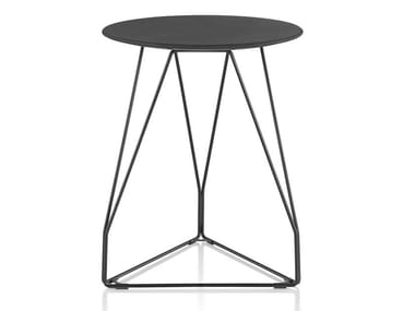 Table basse ronde en métal POLYGON WIRE | Table basse ronde