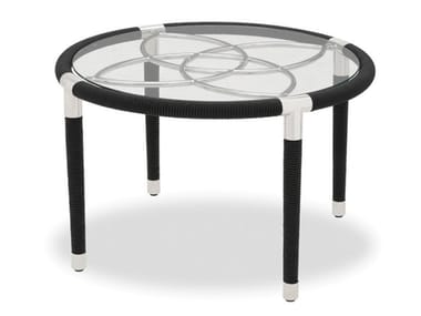 Round stainless steel garden side table DAVOS | Round coffee table