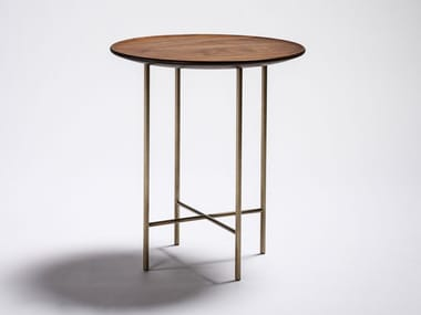 Round steel and wood coffee table JK | Round coffee table