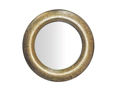 Round wall-mounted fiberglass mirror MILLENIUM | Round mirror