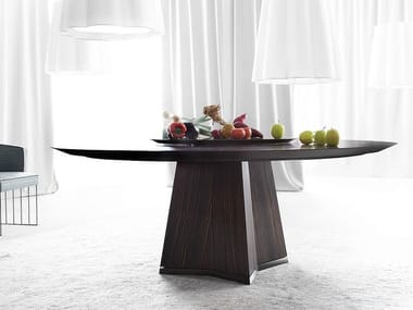 Round wooden table PENSAMI | Round table