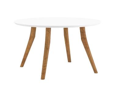 Tavolo da giardino rotondo in ceramica ZIDIZ | Tavolo rotondo