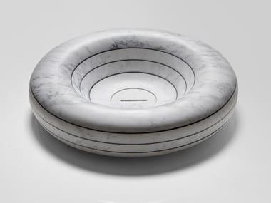 Lavabo da appoggio rotondo in marmo RIGATI | Lavabo rotondo
