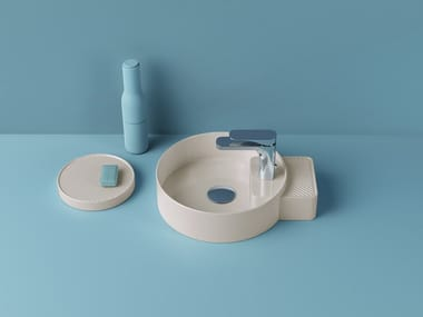 Countertop round ceramic washbasin CARTESIO   Round washbasin