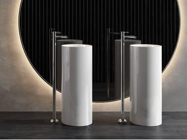 Lavabo sur pied rond en céramique RAK-PETIT | Lavabo rond