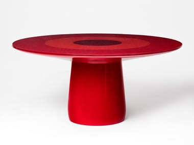 Lacquered round dining table ROUNDEL | Dining table