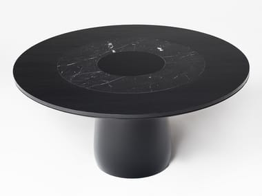 Lacquered round dining table ROUNDEL | Table