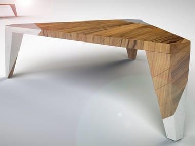 Tavolo in legno e marmo ROVER | Tavolo in legno