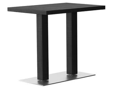 Rectangular wooden high table RQ | Rectangular table