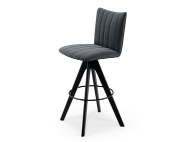 High fabric stool with back RUBIE BAR CHAIR