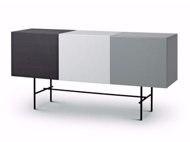 Lacquered sideboard with doors RUBYCON | Lacquered sideboard
