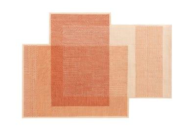 Wool rug CANEVAS GEO CORAL | Rug
