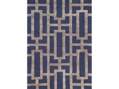 Patterned rug DALLAS TAQ-229 Deep navy/Dark gray