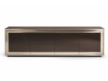 Lacquered wooden sideboard with doors RUSKIN