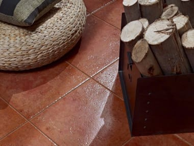 Glazed stoneware wall/floor tiles with terracotta effect RUSTICO