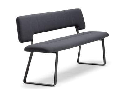 Upholstered bench with back S 1095 P
