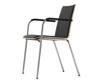 Cadeira estofada empilhável com braços S 162 PF