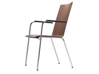 Cadeira empilhável com braços S 164 F