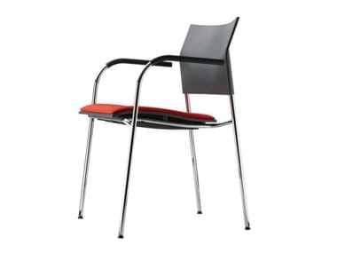 Stackable chair with armrests S 360 SPFST