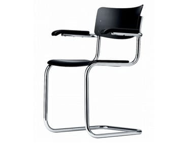 Cantilever chair with armrests S 43 F