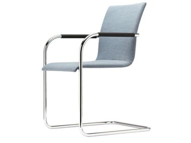 Cantilever upholstered chair with armrests S 55 PF