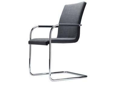 Cadeira cantilever estofada com braços S 56 PVF