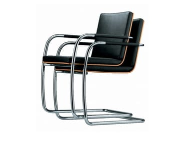 Cantilever stackable chair with armrests S 60 ST