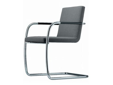 Cantilever upholstered chair with armrests S 60 V