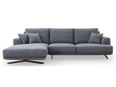 3 seater fabric sofa with chaise longue S 798 | Sofa