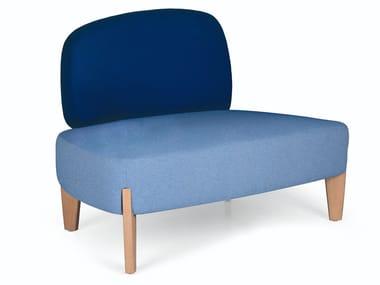 Fabric armchair S