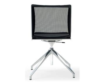 Cadeira operativa ajustável em altura de polipropileno de 4 raios S'MESH SOFT | Cadeira operativa de 4 raios
