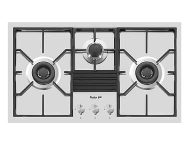 Gas stainless steel hob S4000 3F 2DC 5000W+1SR Q4*