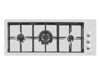 Gas flush-mount stainless steel hob S4000 LINEA 3F FT INOX