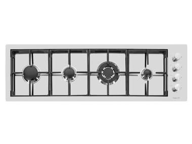 Gas flush-mount stainless steel hob S4000 LINEA 4F FT INOX RA