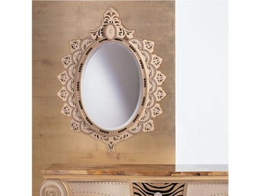 Wall-mounted framed mirror with Swarovski® Crystals S71 | Mirror