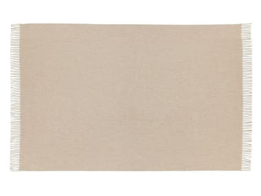 Solid-color cashmere lap robe SABLE