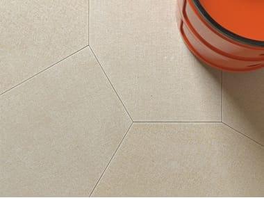 Natural stone wall/floor tiles SACCO POLIGONO6 GREIGE