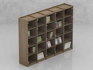 Modular wood veneer office shelving SAPPHIRE | Office shelving