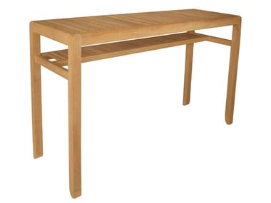 Rectangular teak high table SAKI | Garden table