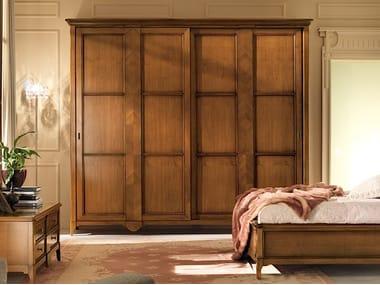 Solid wood wardrobe with sliding doors SALIERI | Wardrobe with sliding doors