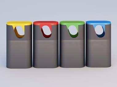 Metal litter bin for waste sorting SAM