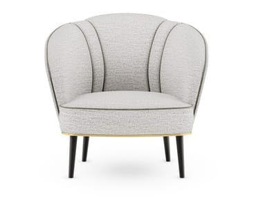 Fabric armchair with armrests SAMARA II